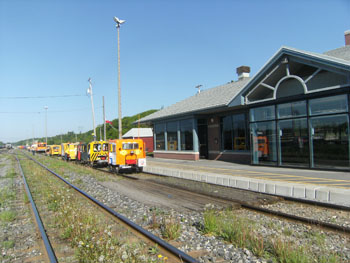At the Via Passenger Station in Ste Foy