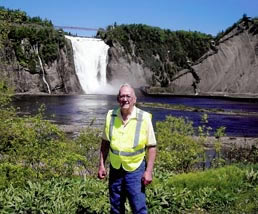 Dad at Montmorency Falls
